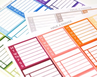 16 Stackable Sidebar Stickers for your Erin Condren Life Planner