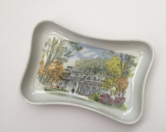French vintage, vintage ring holder, French souvenir, pillivuyt France, ring dish, change tray, Le Pre Catelan, french decor,
