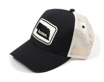Nebraska Home State Apparel Hat: Ouray Soft Mesh Cap in Black