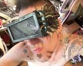 Goggle Burning Man Spiky Welding Goggles Desert Trooper Nevada Survivor Steampunk goggles