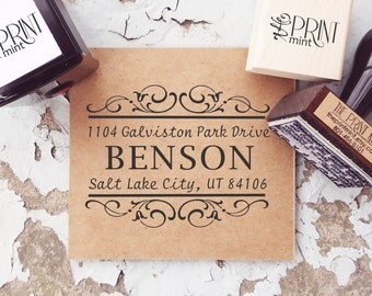 Wedding Stamp, Wedding Invite Stamp,  Self Inking Return Address Stamp, Monogram Address Stamp, Wedding Return Address Stamp 10024