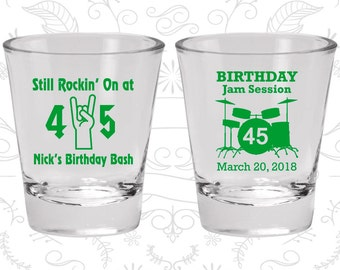 45th Birthday, Still Rockin at 45, Birthday Jam Session, Birthday Glasses (20069)