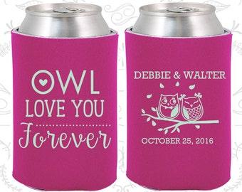 Owl Love You Forever, Wedding Decoration, Owl Wedding, Owl, Love you Forever, Wedding Can Holders (368)
