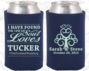 Navy Blue Wedding, Can Coolers, Navy Blue Wedding Favors, Navy Blue Wedding Gift, Navy Blue Party Decorations (498)