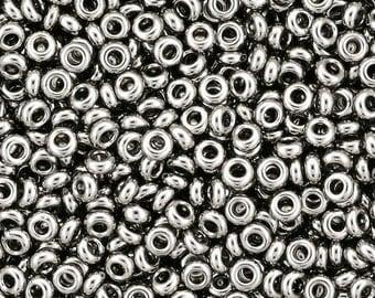 Demi Round 11/0 : Nickel, 2.2mm TOHO Seed Bead, 8 Grams  (TN-11-711)
