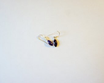silver sterling earrings purple amethyst
