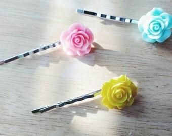Rose hair pins (set of 2)