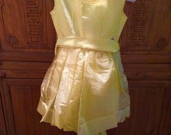 50s 60s Ballerina Childs Girl Yellow Cottage Chic Princess Wedding/Teen Dress