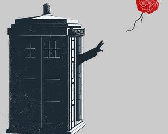Doctor Banksy Rose - Doctor Who Shirt   T-shirt for Women Men   Funny t-shirt for kids