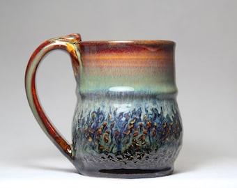 wheel thrown 12oz ceramic pottery mug
