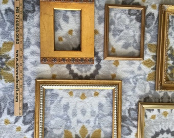 Ornate Gold Frames --  Set of 10 Larger Fancy Hollywood Regency - Rococo Style -- Use for New Project or Collages!