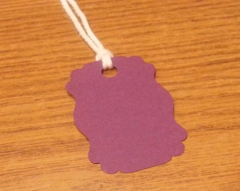 20 Purple Tags, Purple #1 , Hanging Labels, Hang Tags, Card Stock, Gift Tags, Gift Bag Tags
