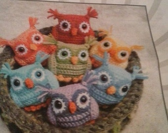 Crocheted Baby Owls