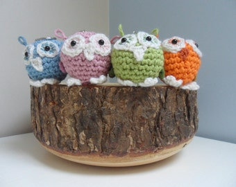 Crochet Key ring keyring Owls