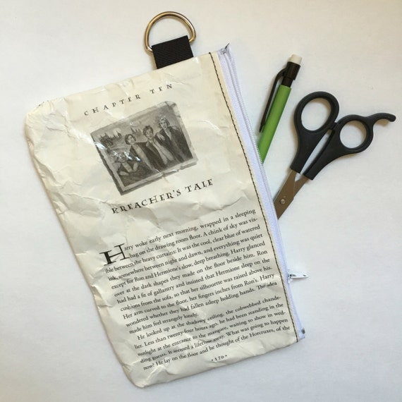 Harry Potter Book Themed Vinyl Pencil or Make-Up Pouch - Kreacher's Tale