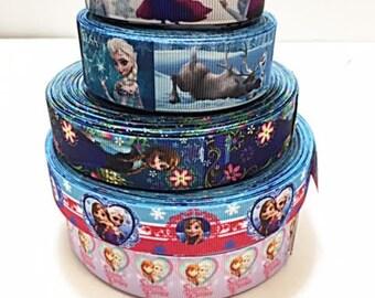 10 yard Frozen Princess Elsa, Anna and Olaf  Lot Grosgrain Ribbon