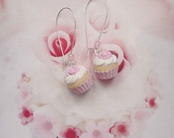 earrings pink cupcakes
