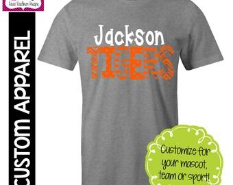 CUSTOM APPAREL: Custom School Name and Mascot Spirit T-Shirt