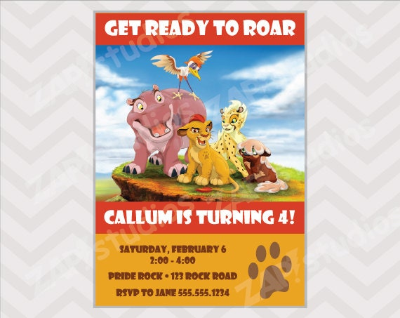 Lion King Invitation as best invitations template
