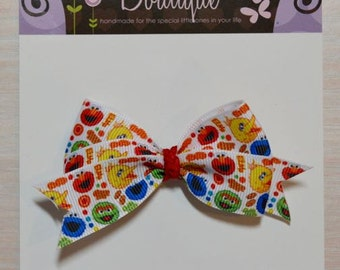 Boutique Style Hair Bow - Sesame Street