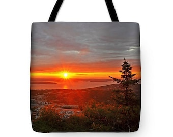 Acadia National Park Tote Bag, Cadillac Mountain, Grocery Tote Bag, Summer Tote Bag,  Maine Tote Bag, Mountain Tote Bag