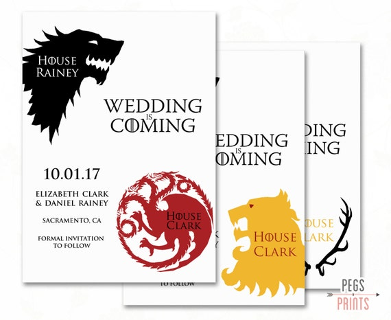 Parts Of Wedding Invitation: Faire-part De Mariage De Geek / / Game Of Thrones Save The