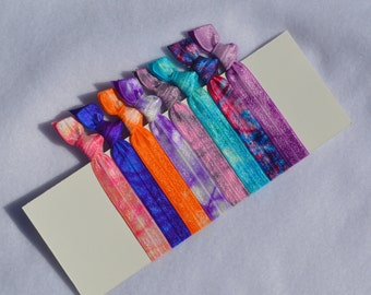 Color Splash Tie Dye Hair Ties - II