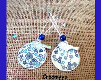 Liberty earrings mauvey purple