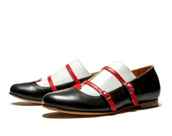 Women's monk shoes/Oxford shoes/Ballet flats/Leather flats/Hnadmade flats/Flat shoes/Casual leather shoes/Everyday shoes/Buckle shoes/Pumps