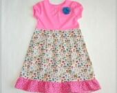 On sale 5t dress**Owl dress**Owls, butterflies, birds, ruffle**Easter dress, spring summer dress**Toddler girls dress**Ready to ship size 5t