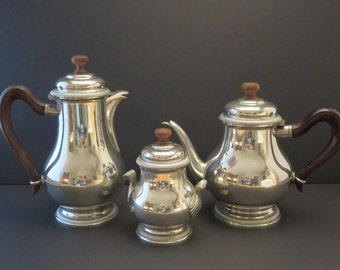 TEAPOT SERVICE SET, Tea and coffee, Sugar bowl, Art deco, Silverware, Tableware, French service, Kitchen & dinning, Gift