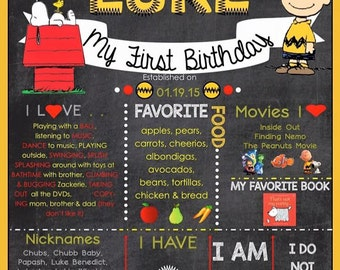 Charlie Brown Birthday Chart