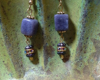 Beautiful blue jasper earrings