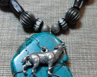 Wolf Collection -turquoise