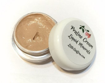PRALINE CREAM Creamy Liquid Mineral Foundation Vegan Makeup Samples and Full Size