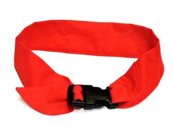 """Solid Color Dog Cooling Bandana, Fabric Neck Cooler Collar w/Buckle, Adj fits 10"""" up to 30"""" neck, Heat Relief Band, Select Size iycbrand"""