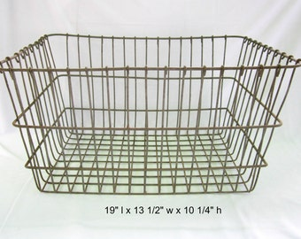 Wire Basket Heavy Duty Wire Crate Industrial Decor Rustic Laundry Storage Organizer