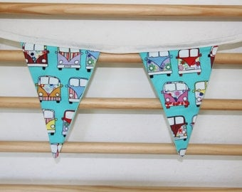 Campervan Bunting. 7 Flags.