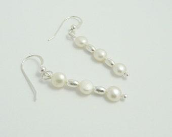 Freshwater Pearl & Sterling Silver Earrings