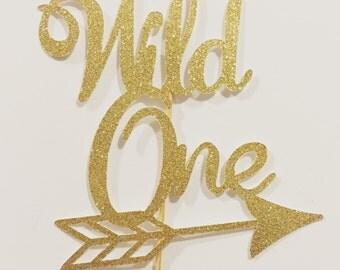 Wild One Cake Topper, 1st birthday cake topper, One cake topper, 1st birthday decorations, Wild One Decorations