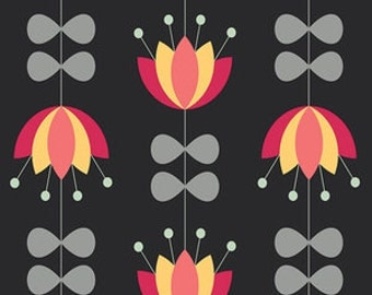 Sale! Tulip Vines in Licorice by Jenni Baker from the Nordika collection for Art Gallery