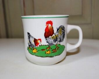 Vintage Rooster Mug, Vintage Chicken Mug, Vintage Coffee Cup, Luciano Collection, Vintage Coffee Mug, Vintage Farm, Country Kitchen, Tea Cup