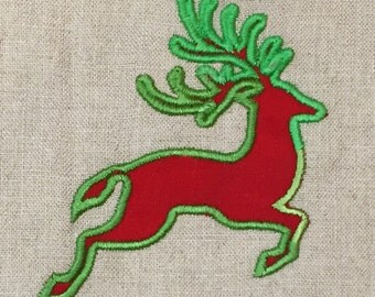 Leaping reindeer machine appliqué and embroidery designs.  Eight different sizes and styles - perfect for holiday gifts.