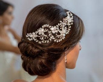 Posy & Pearl Blossom Hair Vine