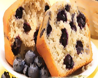 BLUEBERRY MUFFIN - Fragrance Oil - Sweet, sugared blueberries with a warm cake accord