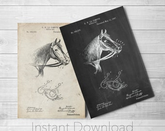 Horse Printables, Vintage Horse, Equestrian Decor, Barn Art,  PP0611