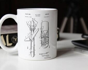 Cold War Era Guided Missile Patent Mug, Armory, Military Mug, Army Decor, Gun Enthusiast, PP0624