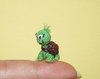 Miniature Turtle Tiny micro Tortoise Miniature crochet turtle Amigurumi Tortoise dollhouse turtle toy miniature stuffed animal toy turtle