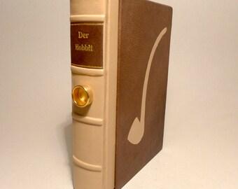 The Hobbit J.R.R. Tolkien book fantasy leather cover unique Bilbo pipe slipcase