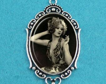 Flapper Girl Pendant Necklace